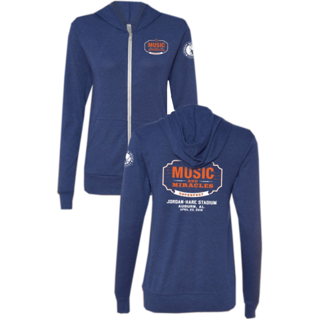Music and Miracles Navy Track Hoodie