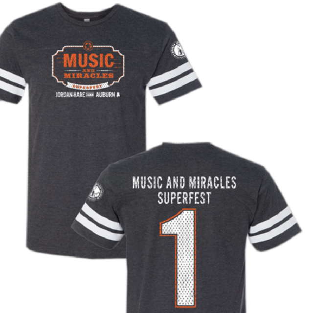 Music and Miracles Vintage Smoke Football Tee